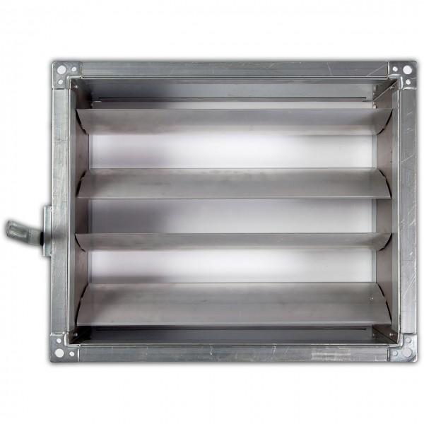 Registre de reglaj cu pârghie pentru tubulatură rectangulară