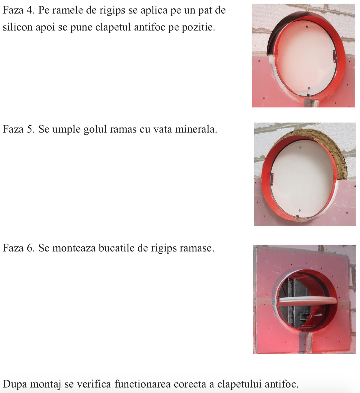 Montaj clapete antifoc circulare 2