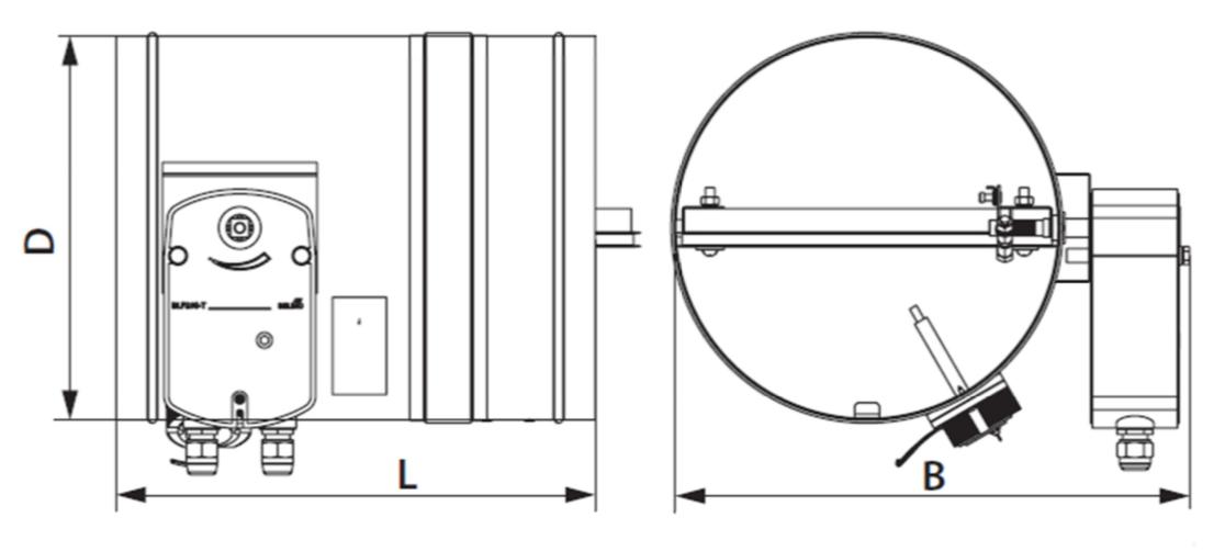 Montaj clapete antifoc circulare