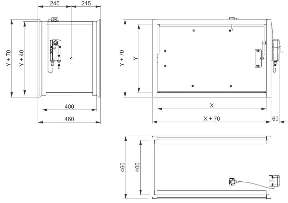 Cote clapete antifoc rectangulare 240